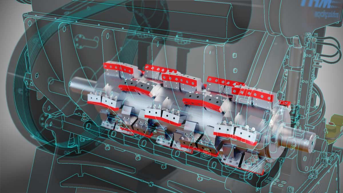 3D-Visualisierung Maschinenbau Querschnitt Maschine